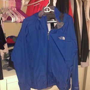 BLUE North Face Rain Jacket